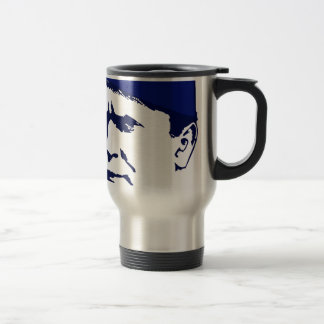 Tito josip Broz Portrait illustration Travel Mug