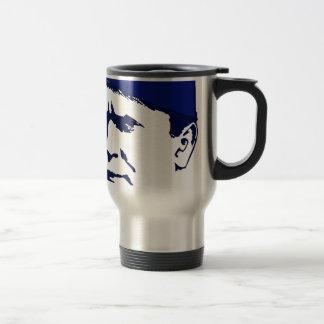 Tito josip Broz Portrait illustration Travel Mug