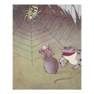 Tittle-Mouse and Garden Toad Meet Spider Posters
