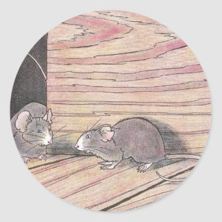 Tittle-Ratón de Tommy Pegatina Redonda
