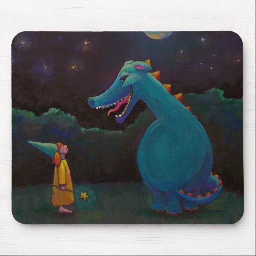 Titulado:  Alicia - mago del dragón y de la niña Mousepad