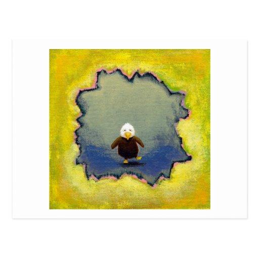 Titulado:  Autorretrato - águila calva del bebé Postal