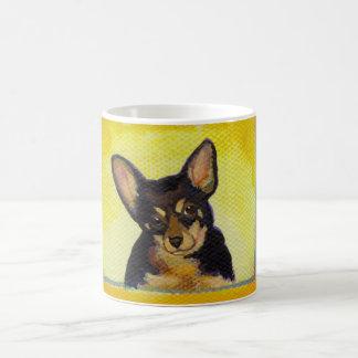 Titulado:  Chihuahua valiente de la diversión de l Tazas