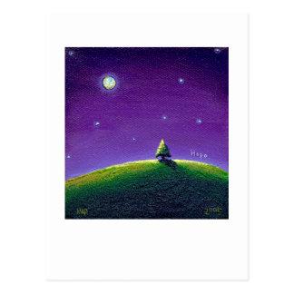 Titulado:  Claro de luna - noche pacífica de la Tarjeta Postal