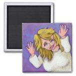 Titulado:  Diosa de loco - ARTE mental de la diver Imanes De Nevera