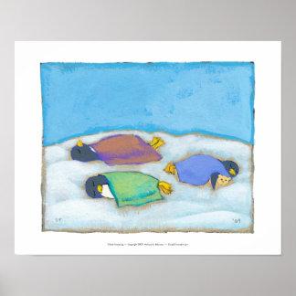 Titulado:  El dormitar - arte napping adorable del Póster