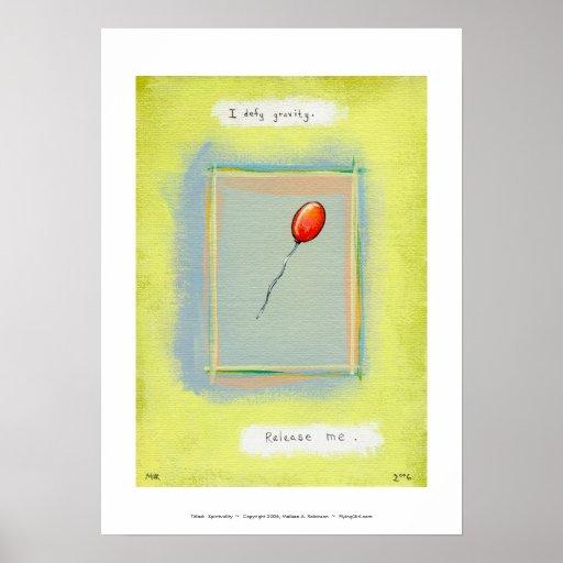 Titulado:  Espiritualidad - pintura del globo de l Impresiones