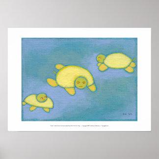 Titulado:  Las tortugas tienen problemas de la con Poster