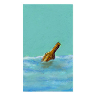 Titulado:  Mensaje - botella en el ARTE del dibujo Tarjetas De Visita