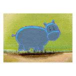 Titulado:  ¡Mi hipopótamo sabe - tarjetas de visit