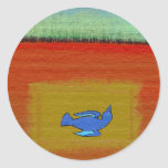 Titulado:  Muerto - pájaro moderno hermoso del Etiquetas Redondas