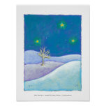 Titulado: Noche silenciosa - estrellas nevosas pac Poster