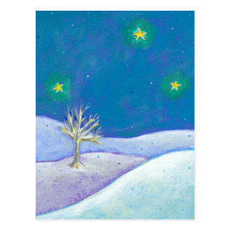 Titulado: Noche silenciosa - estrellas nevosas pac Postal