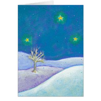 Titulado: Noche silenciosa - estrellas nevosas pac Tarjeta De Felicitación
