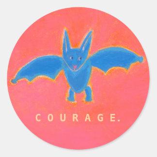 Titulado: Palo azul - VALOR del arte del palo del Pegatina Redonda