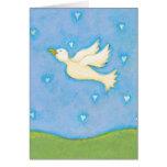 Titulado:  Paz y amor - el pájaro de la paloma LO  Tarjetón
