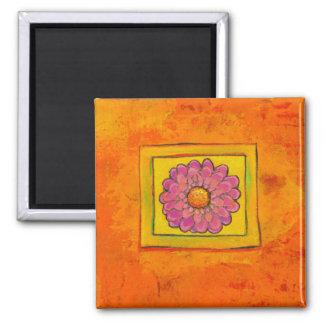 Titulado:  Reciclaje - ARTE antiguo del flower Imán Cuadrado