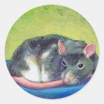 Titulado:  The Guardian - rata elegante hermosa de Etiquetas Redondas
