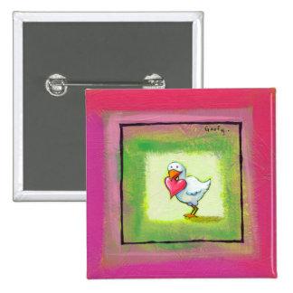 Titulado:  Torpe - pájaro del amor con ARTE del co Pin
