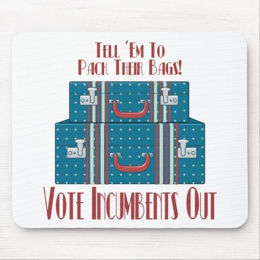 Titulares del voto hacia fuera tapetes de ratones