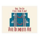 Titulares del voto hacia fuera tarjeta postal