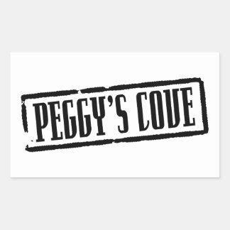 Título de la ensenada de Peggy Pegatina Rectangular