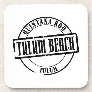 Título de la playa de Tulum Posavasos De Bebida