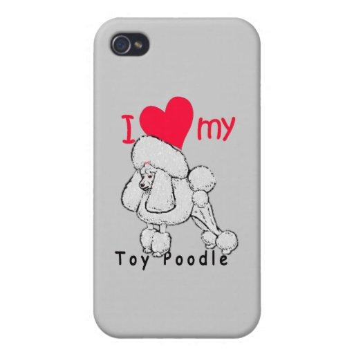 Título del caniche de juguete iPhone 4 carcasa