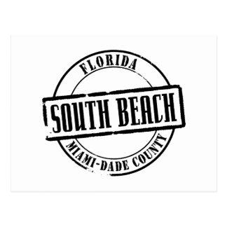 Título del sur de la playa tarjetas postales