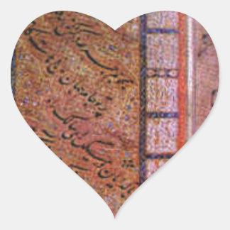 título desconocido de Mir Ali Tabrizi Pegatina En Forma De Corazón