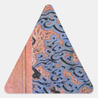 título desconocido de Mir Ali Tabrizi Pegatina Triangular