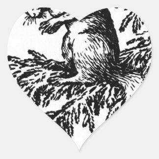 Título desconocido de Theodor Severin Kittelsen Pegatina En Forma De Corazón