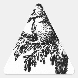 Título desconocido de Theodor Severin Kittelsen Pegatina Triangular