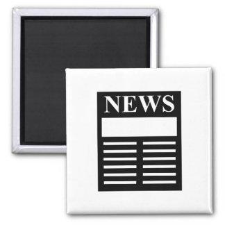 Títulos de las noticias imán cuadrado
