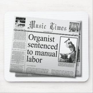 Títulos falsos sobre organista tapetes de ratón