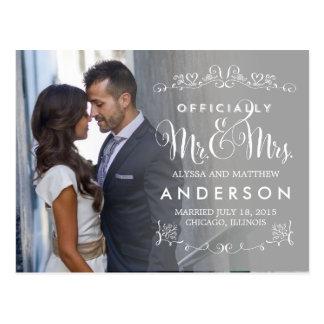 Títulos oficiales que casan las invitaciones - gri tarjeta postal