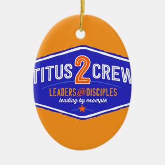 Titus2Crew Ceramic Ornament