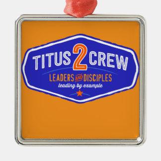 Titus2Crew Square Metal Christmas Ornament