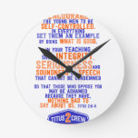 titus2crew round wall clock
