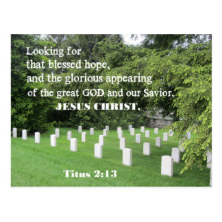 Titus 2:13 Looking for that blessed hope Postcard