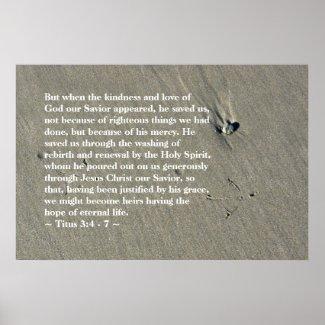 Titus 3:4 - 7 Poster print