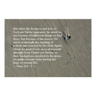 Titus 3:4 - 7 Poster