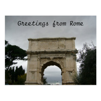 titus arch post card
