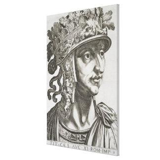 Titus Caesar (39-81 AD), 1596 (engraving) Canvas Print