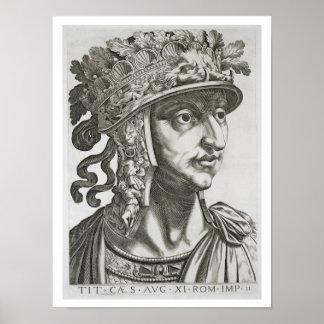Titus Caesar (39-81 AD), 1596 (engraving) Poster