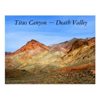 Titus Canyon, Death Valley Postcard