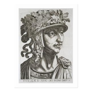 Titus César (39-81 ANUNCIO), 1596 (grabado) Postal
