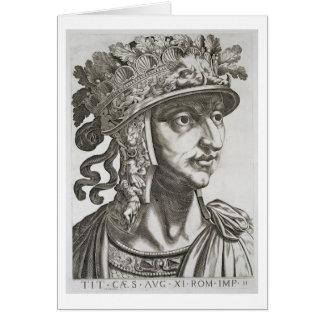 Titus César (39-81 ANUNCIO), 1596 (grabado) Tarjeta De Felicitación