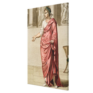 Titus, costume for 'Berenice' by Jean Racine, from Canvas Print