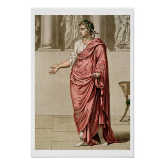 Titus, costume for 'Berenice' by Jean Racine, from Poster
